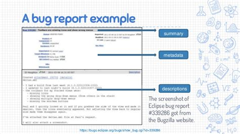 bug report template automated bug localization