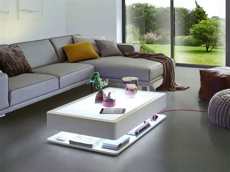 Ora Home Led Pro Living Room White Coffee Table Moree White Living Room Table