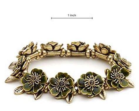 pilgrim design swarovski green enamel gold plated bracelet