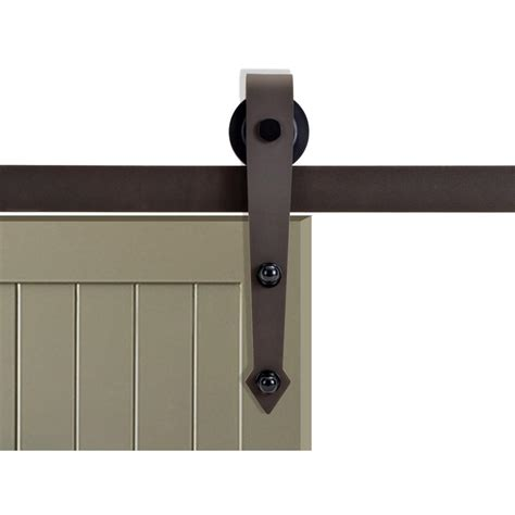 Calhome 72 In Antique Bronze Vintage Arrow Barn Style Barn Door Sliding Door Track