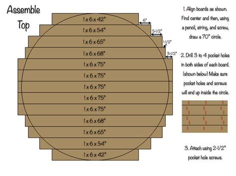 70 Inch Round Table Top » Rogue Engineer