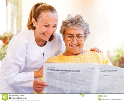 elderly home care stock photography image 35193892