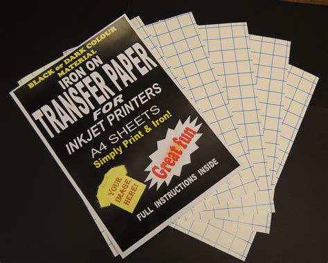 printable fabric transfer paper inkjet iron on t shirt fabric transfer paper a4 50pk dark