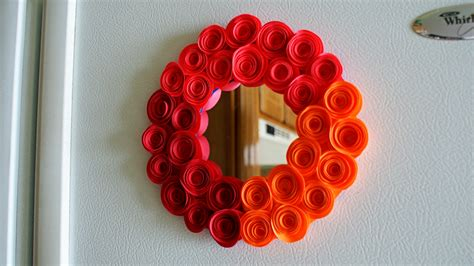 paper spiral flower tutorial video astrobrights paper rosette magnetic mirror