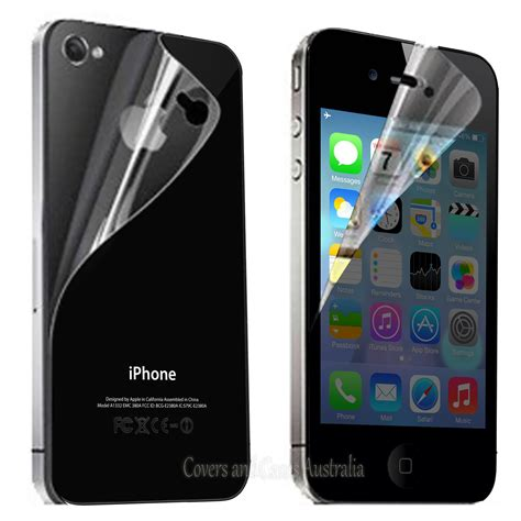 Cameron Screen Protector Iphone 4 clear front and back lcd screen protector for apple iphone 4s 4 4g