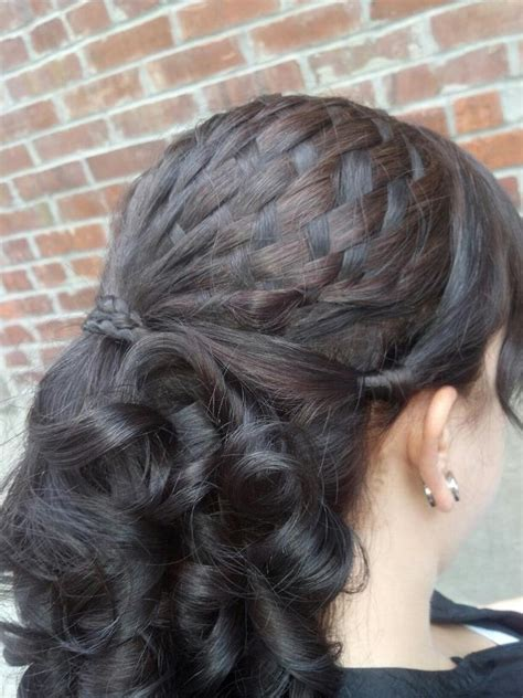 hairstyles basket with curls basket weave braid with curls fun hairstyles pinterest