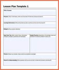 lesson plan design template printable lesson plan template bio exle