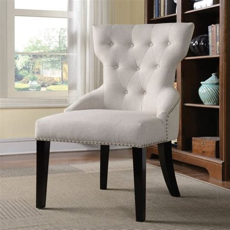 coaster button tufted back accent chair in 902238