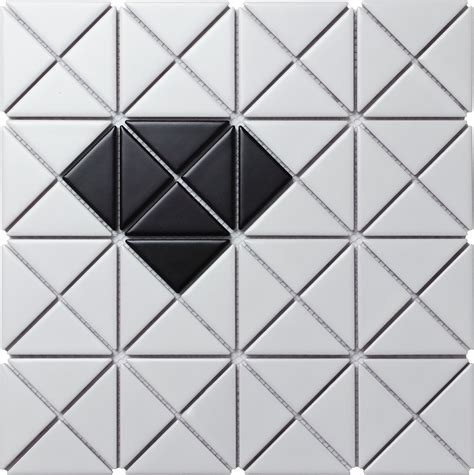 mosaic pattern triangle 2 glossy single diamond pattern porcelain triangle