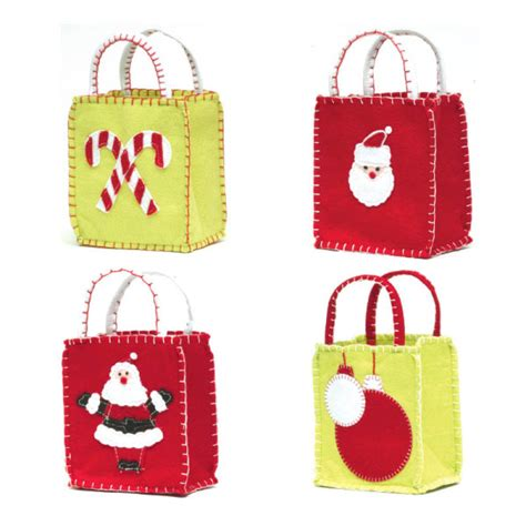 christmas goodie bags set of 4 ecopartytime