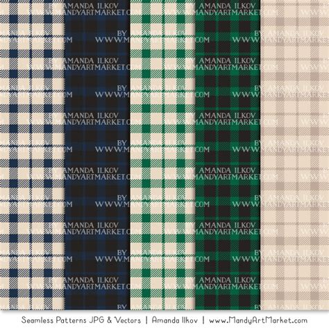 Emerald Navy navy emerald cozy plaid patterns