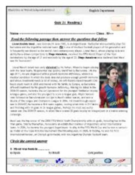 lionel messi biography esl english teaching worksheets leo messi