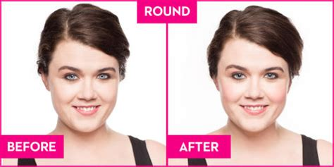 how to round a rectangular face with a haircut the best blush for your face shape blush according to