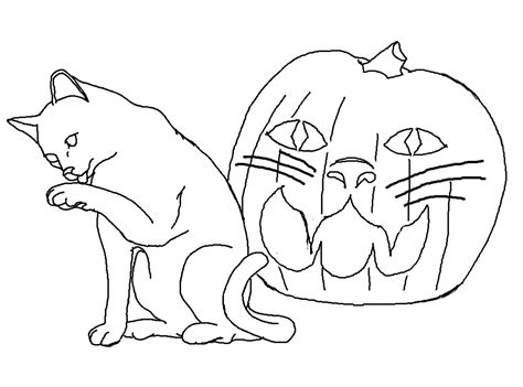 coloring page halloween cat free printable cat coloring pages for kids