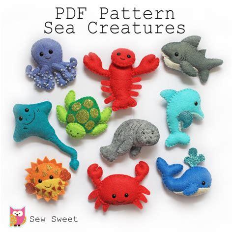 pattern felt animals sea creatures felt softies pdf pattern sew sweet instant