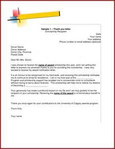 Thank You Letter Award Scholarship thank you letter grant award scholarship letter format sendlettersfo