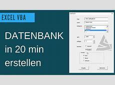 EXCEL VBA Datenbank erstellen / UserForm Grundlagen ... Access Datenbank Erstellen