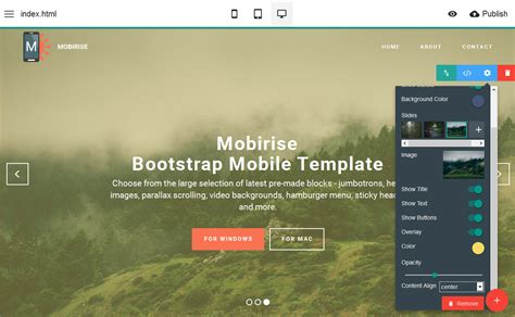 bootstrap mobile template maker