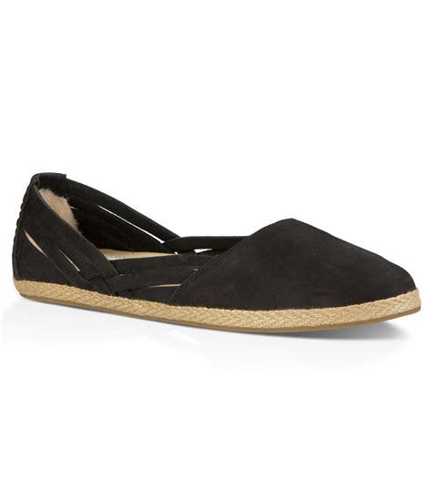 ugg flat shoes ugg 174 tippie espadrille flats in black lyst