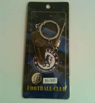 Gantungan Kunci Logo Chelsea Karet Import jual pernak pernik bola peralatan futsal sepakbola casual chelsea