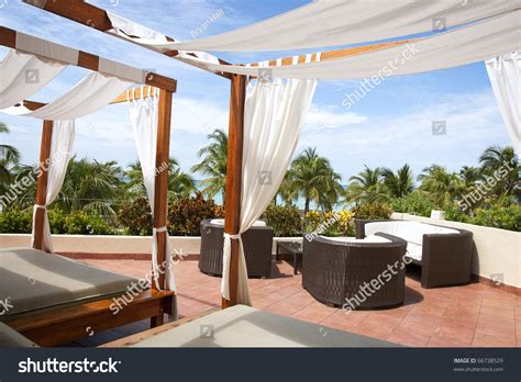 outdoor cabana bed outdoor cabana beds on a rooftop overlooking a tropical