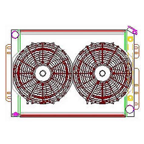 radiator and fan combo griffin aluminum radiator electric fans combo cu 700009