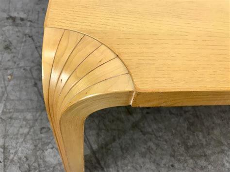 vintage fan table l vintage fan leg coffee table by alvar aalto for artek for