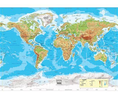 world map physical rivers noen som vet om et godt verdenskart p 229 nett