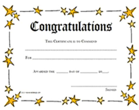 printable congratulations award certificates templates