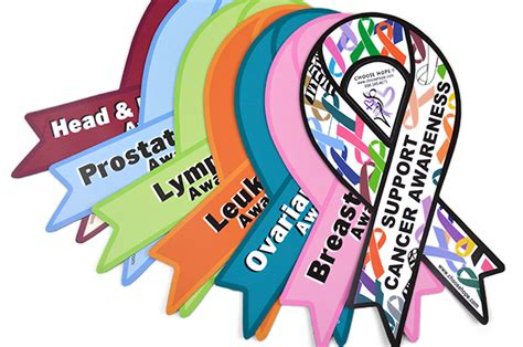 cancer awareness color ribbon awareness car magnets choose