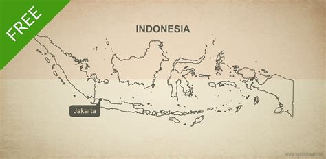 printable peta indonesia free vector map of indonesia outline one stop map