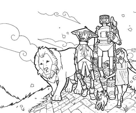 20 free printable wizard of oz coloring pages
