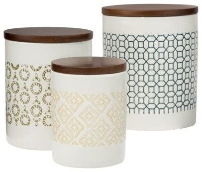 wooden kitchen canister sets threshold canister with wood lid collection contemporary