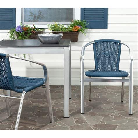 safavieh wrangell teal indoor outdoor patio stacking
