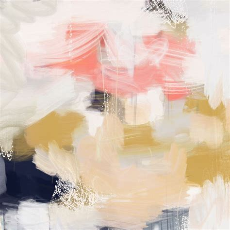 Acrylic Warna emmi paper print yellow painting blue yellow and pink blue