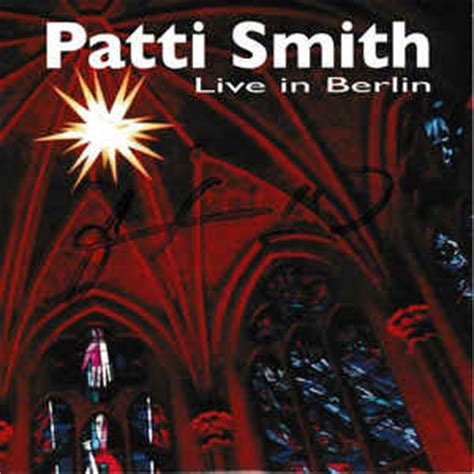 format live cd patti smith live in berlin cd at discogs