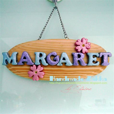 Handmade Name Plates - handmade zakka by elaine salt dough name plate