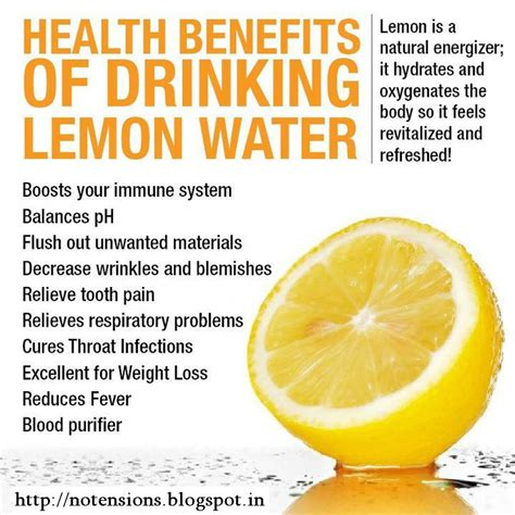 Cold Lemon Water Detox by Learn With Health Benefits Of Lemon