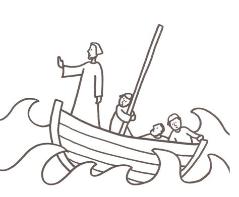 jesus calms the storm coloring page children crafts and