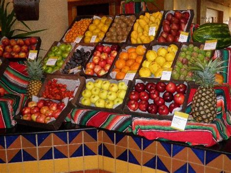 the fruit palace lots of fresh fruit at buffet mangos strawberries kiwi picture of barcelo maya palace