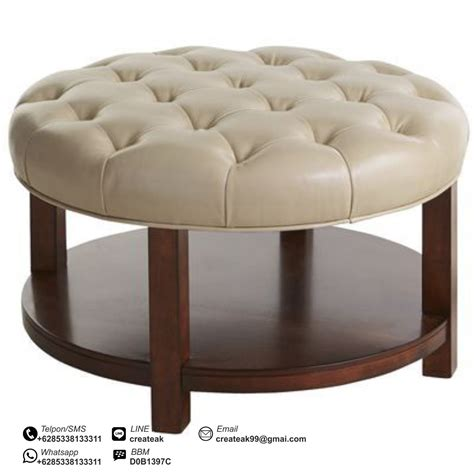 Sofa Meja Rias Tatakan Galon meja tamu bundar cantik createak furniture createak