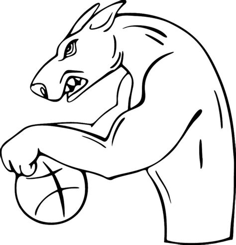 coloring pages nfl mascots nfl mascots free colouring pages