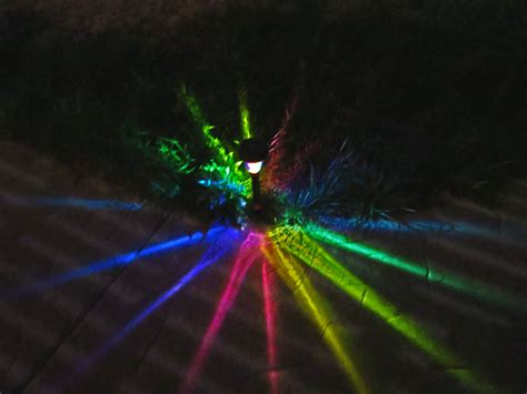 solar led rainbow starburst painted path lights for outdoor