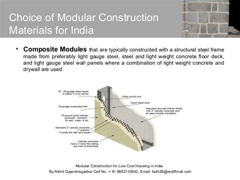 modular construction costs modular construction for low cost housing in india