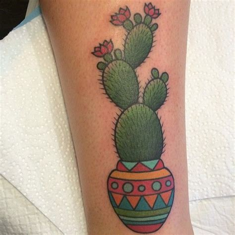 cactus tattoo by clare hampshire tattoomagz