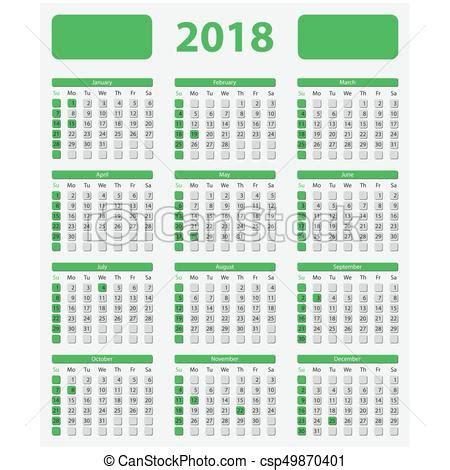 new year 2018 working days eua oficial feriados 2018 calend 225 semana eua