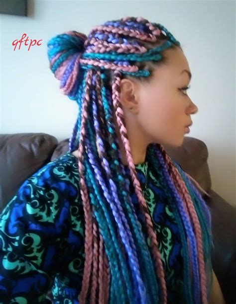 braids with color box braids hairstyles girlterest