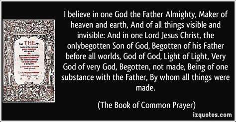 believe one i believe in one god the almighty maker of heaven