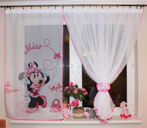 New Kids Girls Disney Minnie Mouse Window Panels Curtains