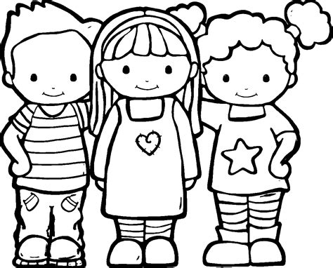 Friendship Coloring Pages Best Coloring Pages For Kids Friends Coloring Page